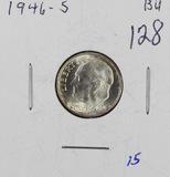 1946-S ROOSEVELT DIME - BU
