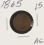 1865 - INDIAN HEAD CENT - AG