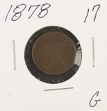 1878 - INDIAN HEAD CENT - G