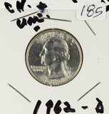 1962 - WASHINGTON QUARTER - UNC