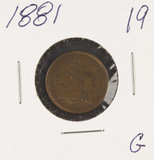 LOT OF 2 - 1881  INDIAN HEAD CENTS - G
