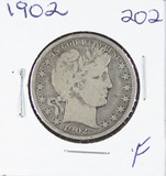 1902 -  BARBER HALF DOLLAR - F