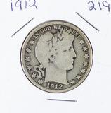 1912 - BARBER HALF DOLLAR - VG
