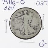 1916-D  LIBERTY WALKING HALF DOLLAR