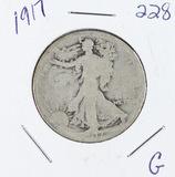 1917 -   LIBERTY WALKING HALF DOLLAR -G