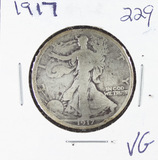 1917 -   LIBERTY WALKING HALF DOLLAR - VG