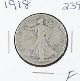 1918 - LIBERTY WALKING HALF DOLLAR -F