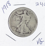 1918 - LIBERTY WALKING HALF DOLLAR -VG