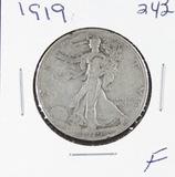1919 - LIBERTY WALKING HALF DOLLAR -F