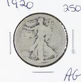 1920 -  LIBERTY WALKING HALF DOLLAR - AG