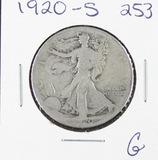 1920-S  LIBERTY WALKING HALF DOLLAR - G