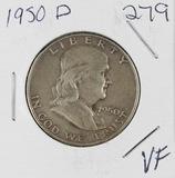 1950-D FRANKLIN HALF DOLLAR - VF