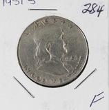 1951-S FRANKLIN HALF DOLLAR - F