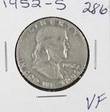1952-S FRANKLIN HALF DOLLAR - VF