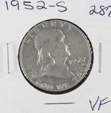 1952-S FRANKLIN HALF DOLLAR -VF