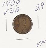 1909 - VDB  LINCOLN CENT - VF