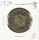 1834 - MATRON HEAD LARGE CENT - G