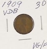 1909 - VDB LINCOLN CENT - VG/F