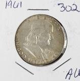1961 - FRANKLIN HALF DOLLAR - AU