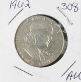 1962 - FRANKLIN HALF DOLLAR -AU