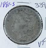 1881-S  MORGAN DOLLAR -VF