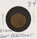 BLANK CENT PLANCHET