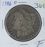 1886-O  MORGAN DOLLAR - F