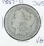 1887-O  MORGAN DOLLAR - VG