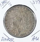 1890-S  MORGAN DOLLAR - AU (DARK)