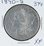 1890-S  MORGAN DOLLAR - XF