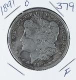 1891-O  MORGAN DOLLAR - F