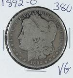 1892-O   MORGAN DOLLAR -VG