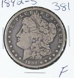 1892-S  MORGAN DOLLAR -F