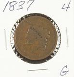 1837 - MATRON HEAD LARGE CENT - G