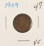 LOT OF 2 - LINCOLN CENTS  1909 & 1909-VDB - VF