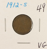 1912-S LINCOLN CENT - VG