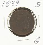 1839 - BRAIDED HAIR LARGE CENT - G