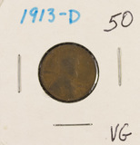1913-D LINCOLN CENT - VG