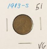 1913-S - LINCOLN CENT -VG