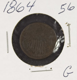 1864 - TWO CENT PIECE - G