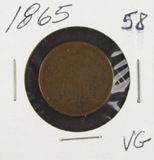 1865- TWO CENT PIECE - VG