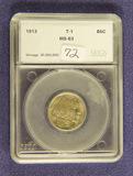 1913 - TYPE I - BUFFALO NICKEL - UNC