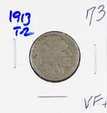 1913 - TYPE II - BUFFALO NICKEL - VF+