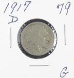 1917-D BUFFALO NICKEL - G