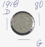 1918-D BUFFALO NICKEL - G