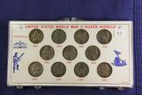 1942-1945 SILVER NICKEL SET - 11 COINS