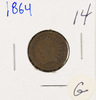 1864 - BRONZE INDIAN HEAD CENT - G