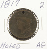 1817 - MATRON HEAD LARGE CENT - AG