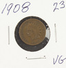 1908 - INDIAN HEAD CENT -VG