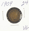 1909 - INDIAN HEAD CENT - VG